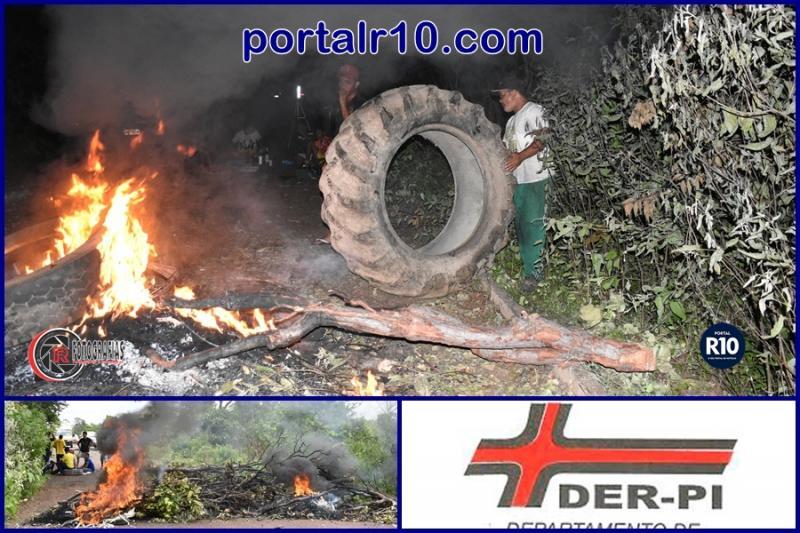 DER fará operação tapa buraco atendendo pedidos de manifestantes na PI-112