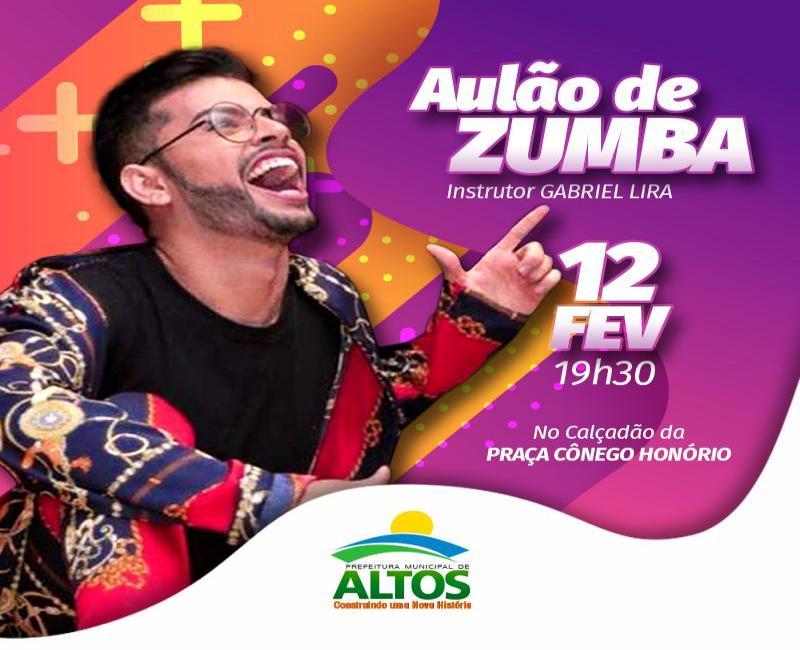 Prefeitura de Altos convida população para aulão de zumba na Praça Cônego