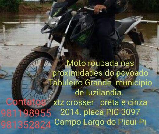 Campolargoense tem moto e pertences  roubados en assalto em Luziânia-PI
