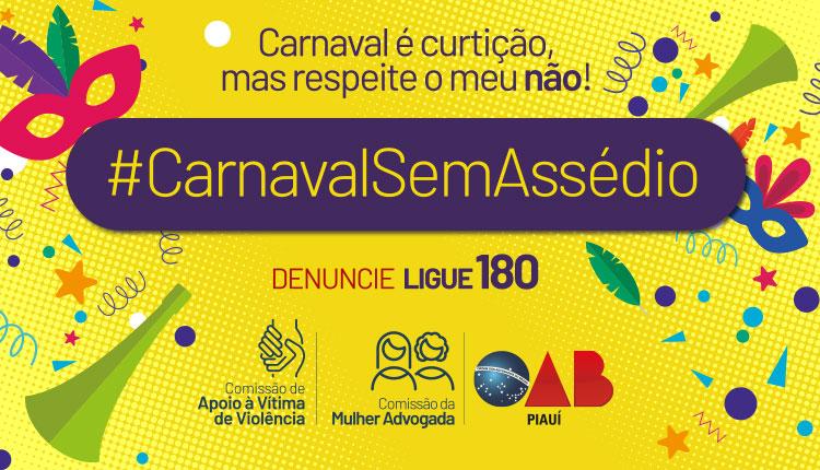 OAB Piauí lança campanha #CarnavalSemAssedio