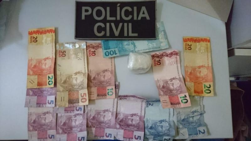 Dinheiro recuperado pela policia