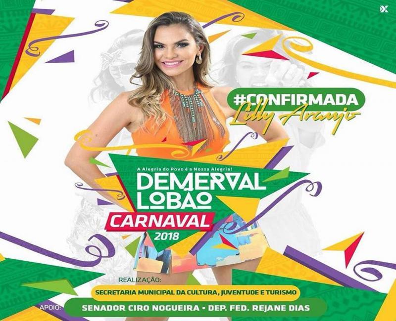 Lili Araújo uma das atrações da segunda de carnaval em Demerval Lobão