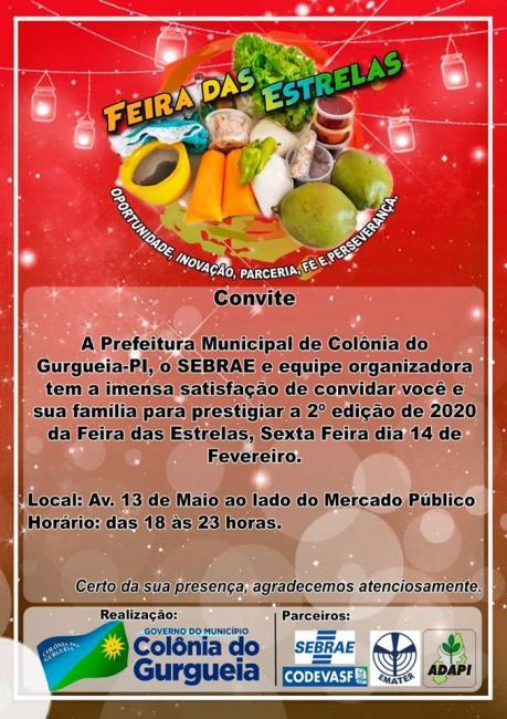 Prefeitura realiza 2ª edição da Feira das Estrelas em Colônia do Gurgueia