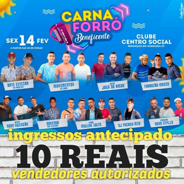 Redenção: Músicos farão festa beneficente nesta sexta-feira (14/02) no Cent