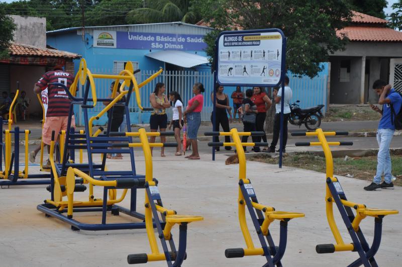 Prefeitura inaugurou academia da Saúde na comunidade São Dimas