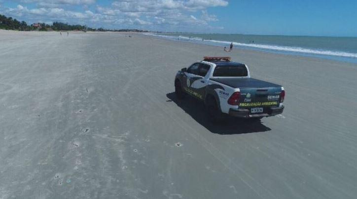 Semar intensifica fiscalização de veículos nas praias do PI