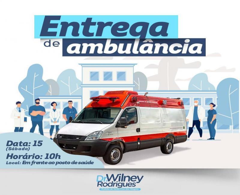 Prefeitura adquire nova ambulância para beneficiar saúde do município