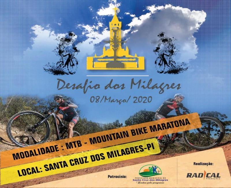 Santa Cruz dos Milagres sediará evento esportivo de mountain bike