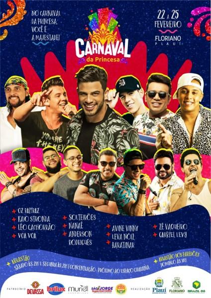 Carnaval 2020: 12 bandas animarão os quatro dias de folia em Floriano