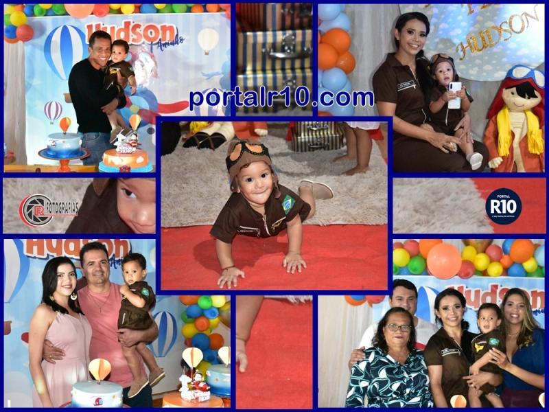 Aniversário do 1° ano do pequeno Hudson Filho com familiares e amigos