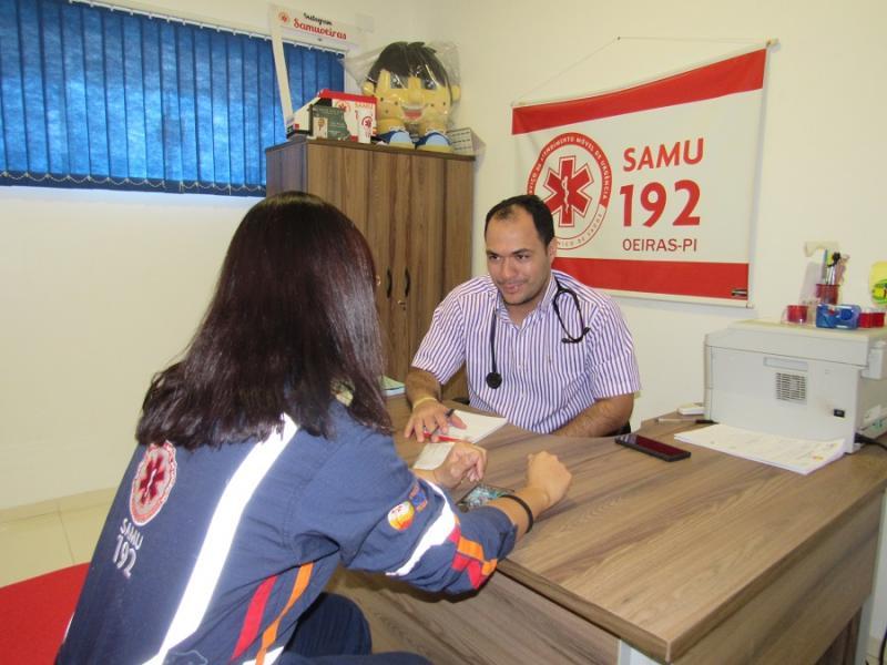 SAMU recebe ações do Programa Saúde do Trabalhador da Prefeitura de Oeiras