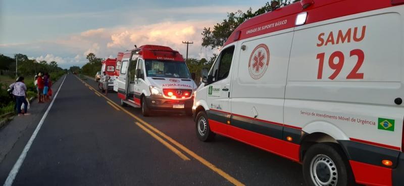 Carro desce barranco na PI 140 e cinco pessoas ficam feridas