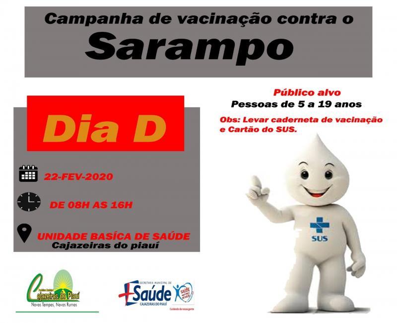 SMS de Cajazeiras promoverá o Dia 'D' de vacinação contra o Sarampo