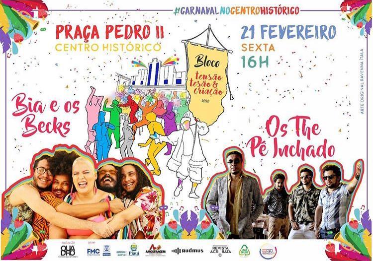 Bloco 'Tensão, Tesão e Criação' abre a programação de Carnaval em Teresina
