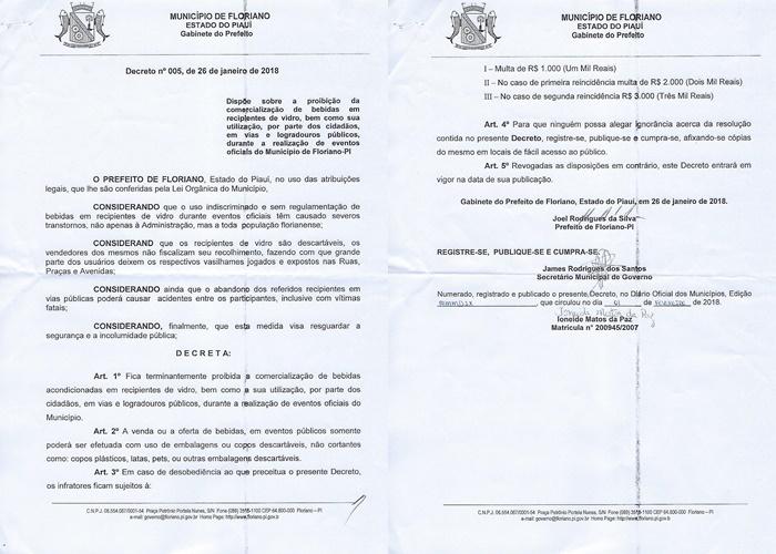 Decreto proíbe venda de bebidas em recipientes de vidro durante carnaval