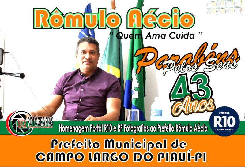 Prefeito Rômulo Aécio está de aniversário e completa 43 anos