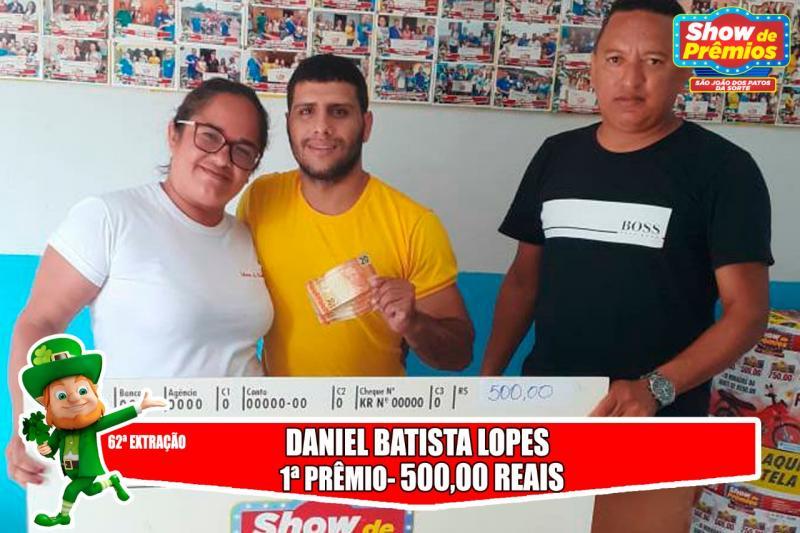 Ganhadores da 62ª extração do show de prêmios São João dos Patos da sorte
