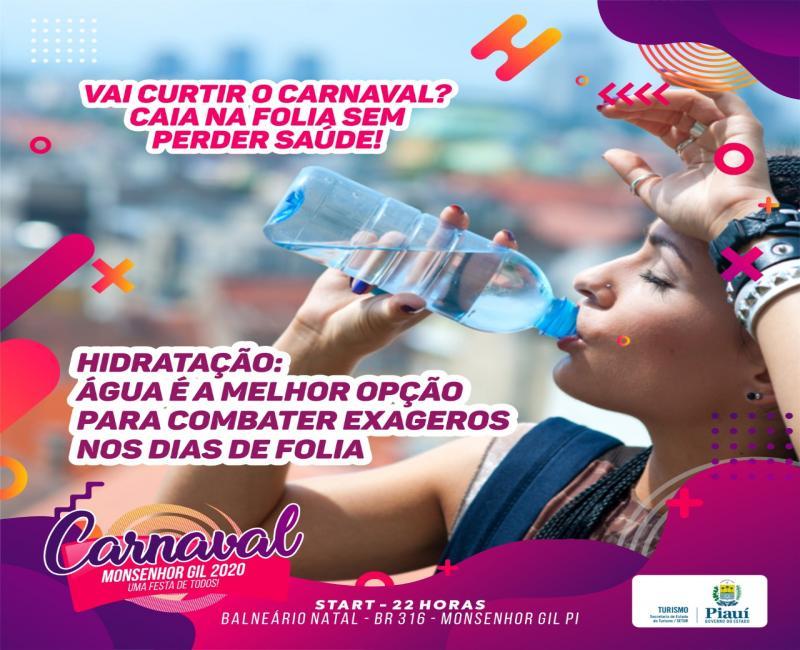 Prefeitura de Monsenhor Gil dá dicas para curtir o Carnaval com saúde