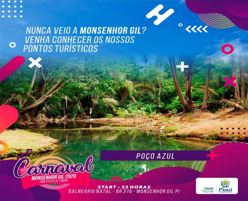 Aproveite o carnaval para conhecer os pontos turísticos de Monsenhor Gil
