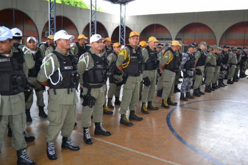 PMs são enviados para cidades do interior para reforçar a segurança