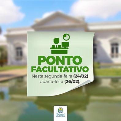 Governo do Piauí decreta ponto facultativo no carnaval