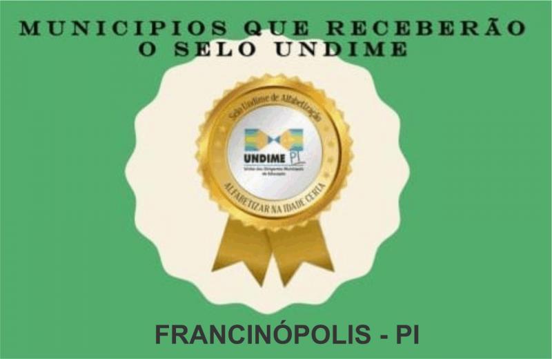 Educação de Francinópolis conquista o Selo de Qualidade da Undime