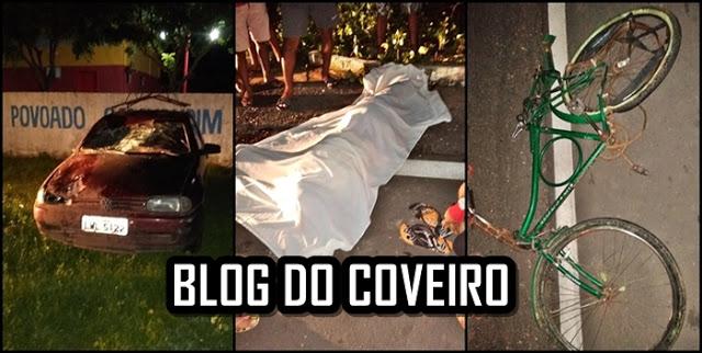 Idoso em bicicleta morre após ser atropelado no litoral do Piauí