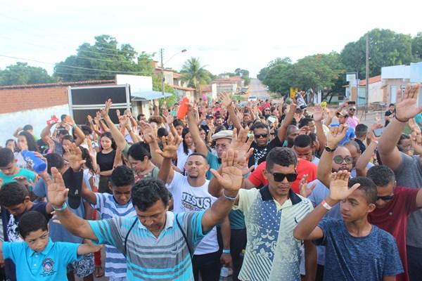 Marcha para Cristo realizada pela Igreja Batista em Colônia do Gurgueia