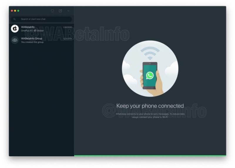WhatsApp trabalha em modo escuro para versão web