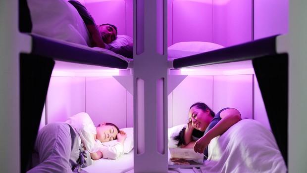 Companhia aérea vai testar beliches na classe econômica