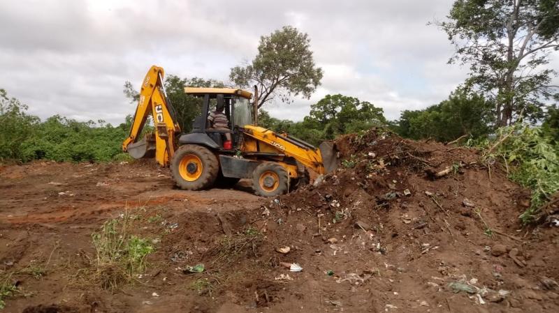 Mudas são plantadas no entorno do aterro sanitário de Landri Sales