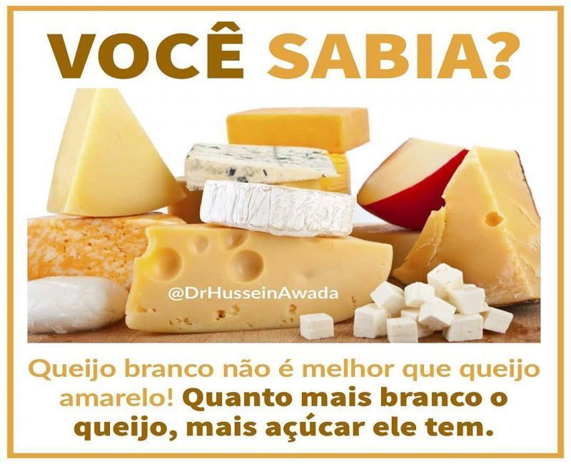 Você sabia? Queijo branco não é o melhor que queijo amarelo!
