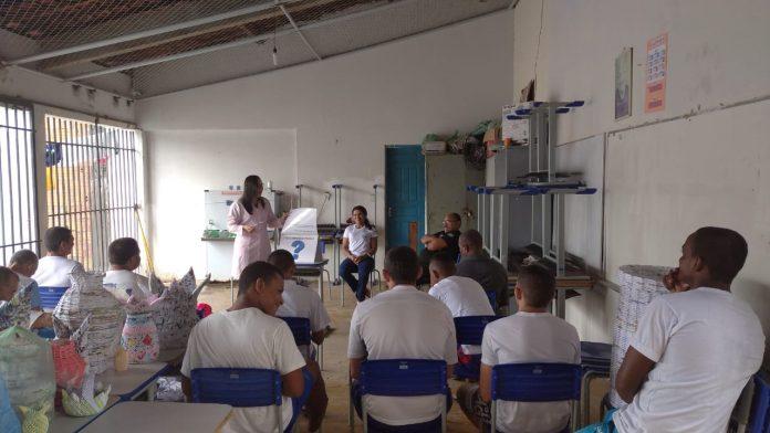 Saúde realiza ações de prevenção à hanseníase na penitenciária de Oeiras
