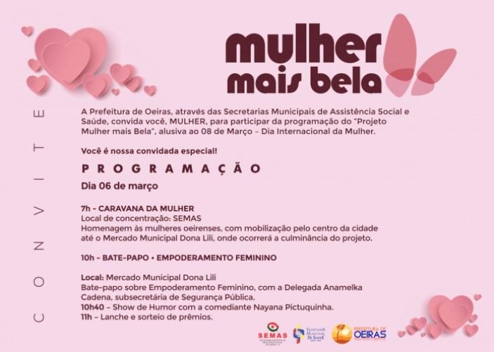 Oeiras lança programação para comemorar o Dia Internacional da Mulher