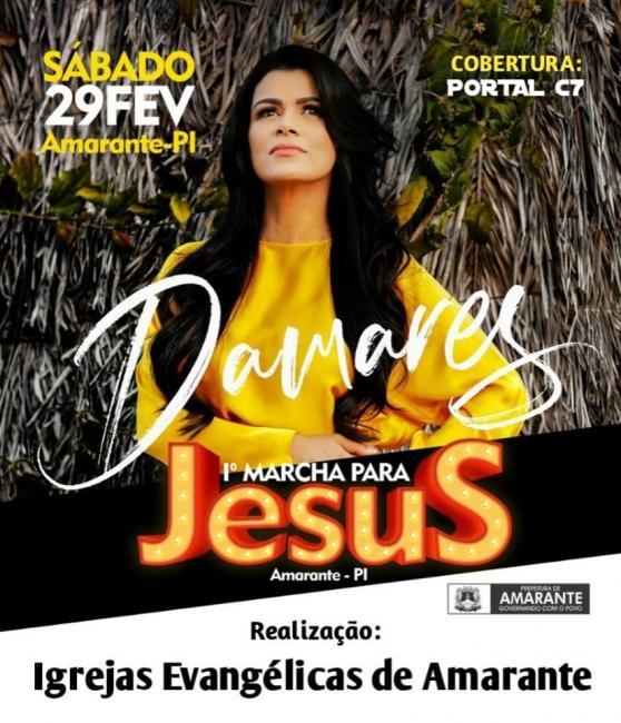 1º Marcha para Jesus em Amarante terá apresentação da cantora Damares