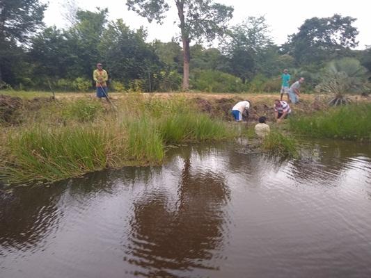 Ação de limpeza na Lagoa da Feliciana em Colônia do Gurgueia