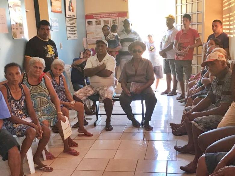 Equipe de saúde de São Pedro realiza  roda de conversa a respeito de alimentação no  Povoado Brejo