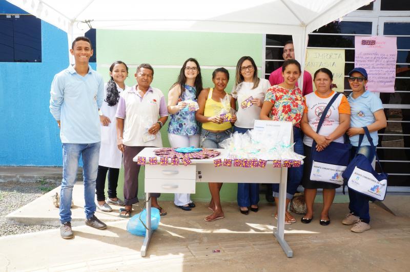 A equipe da Saúde realizou  ação de saúde pré-Carnaval na UBS do Bairro Mutirão