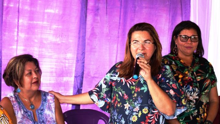 Vilma Lima da posse a coordenadora Municipal de políticas para Mulheres
