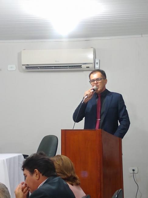 Pronunciamento do Presidente da Câmara Alan Juciê na sessão solene
