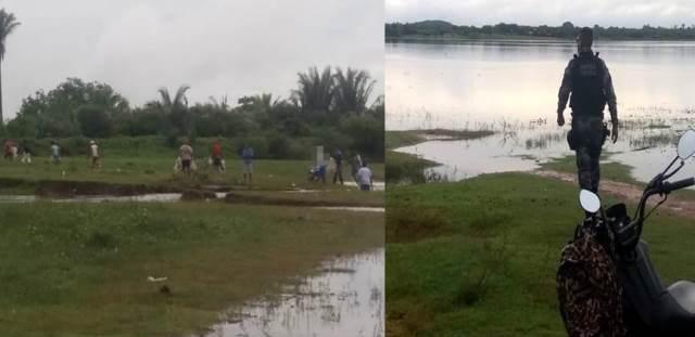 Fiscalização de combate à pesca predatória na barragem do bezerro.