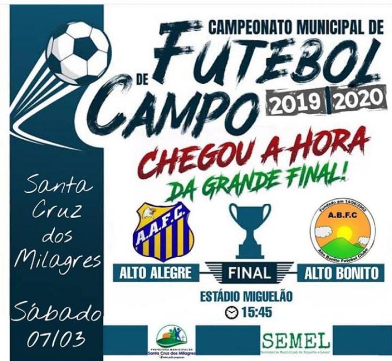 Final do campeonato municipal de futebol de campo será neste sábado (07)