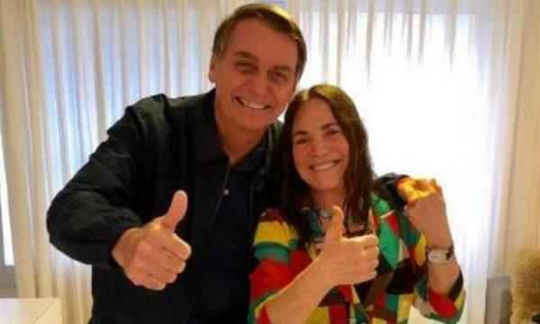 Regina Duarte e Jair Bolsonaro - Foto: Reprodução/Web