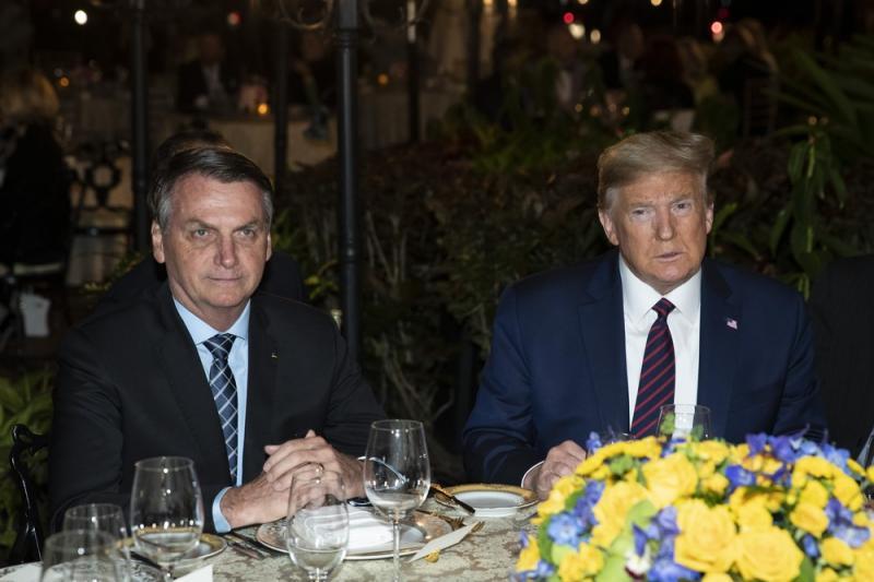Bolsonaro e Trump se encontram nos Estados Unidos