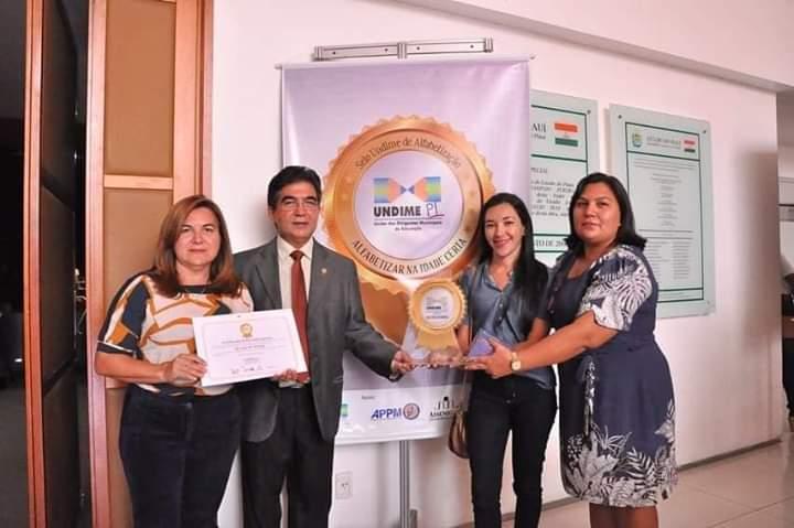 Prefeita Vilma Lima, Deputado Francisco Limma, Secretária Rosa Maria Lima e a diretora Rosa Maria de Oliveira (Foto: Ascom)