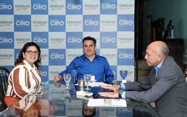 Deputado Warton Lacerda se reúne com senador Ciro Nogueira