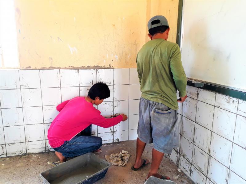 Prefeitura Municipal de Joaquim Pires realiza reforma da Unidade Escolar Clarindo Lopes