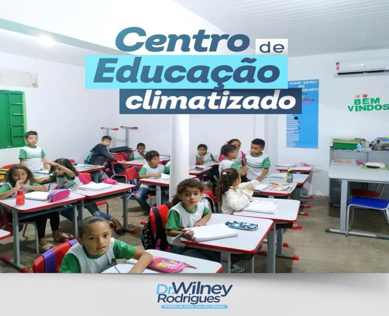 Centro de Educação recebe sistema de climatização em Sta Cruz dos Milagres