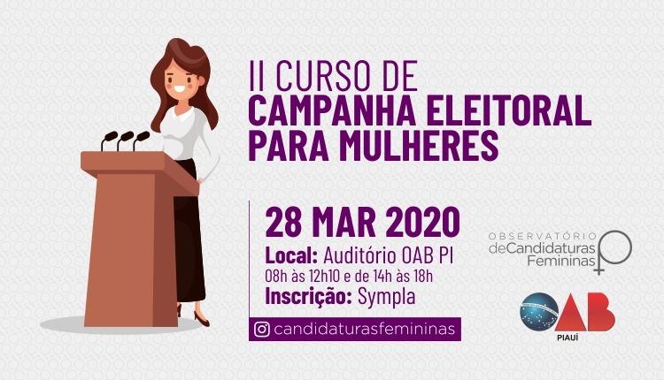 Inscreva-se para o II Curso de Campanha Eleitoral para Mulheres