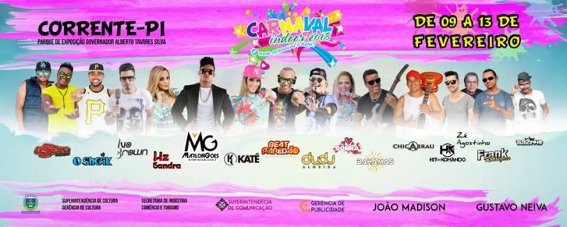 Confira a programação completa do carnaval 2018 de Corrente